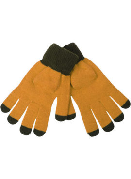 Men's California Splashes Solid Knit Gloves